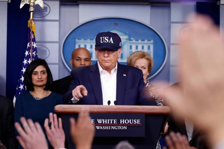Negatív lett Trump vírustesztje