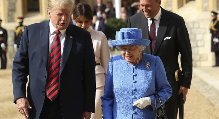 A királynő vendégeként Londonba érkezik az amerikai elnök