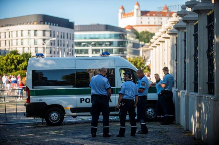 A rendőrség szerint a pozsonyi tüntetésen nem történt rendbontás