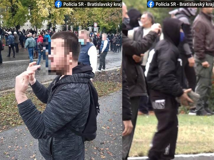 Pozsonyi tüntetés: 25 évet is kaphatnak a rendőröket kövekkel dobáló tüntetők, két férfit gyanúsítottak meg