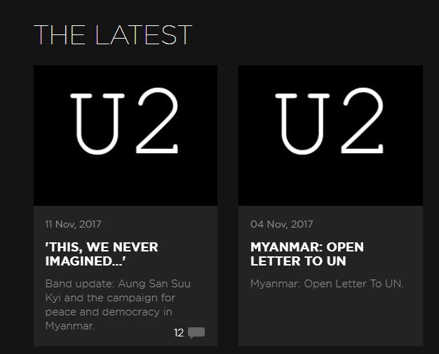 A U2 már megint politizálni kezdett