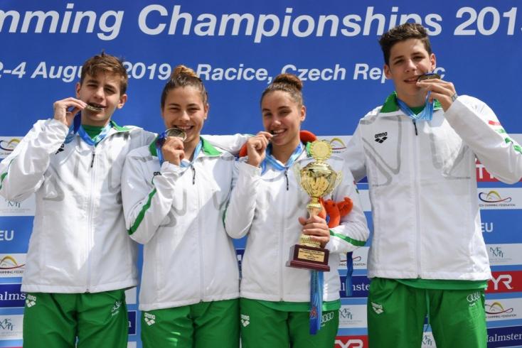 Junior nyíltvízi úszó Eb - A magyarok végeztek az éremtábla és a pontverseny élén