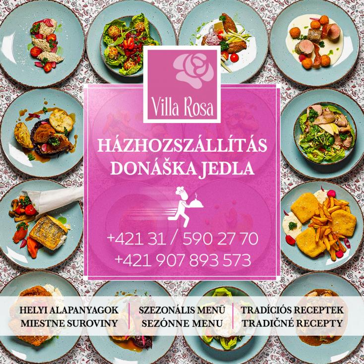 Rendeljen házhoz, s élvezze otthonában a Villa Rosa fogásainak különleges ízvilágát!
