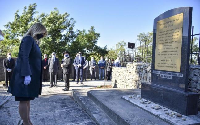 Zuzana Čaputová tisztelgett a holokauszt áldozatai előtt