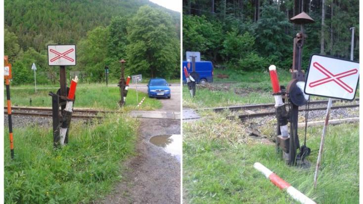MEGÁLL AZ ÉSZ: Lefűrészelték a vasúti átjáró sorompóit!