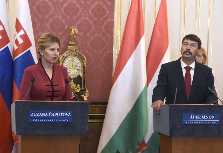 Megkérdezték Čaputovától Budapesten, igaz-e, hogy ő Soros György ügynöke